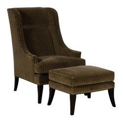 Vanguard Furniture - Vanguard Furniture Duke Ottoman C22-OT - Vanguard Furniture Duke Ottoman C22-OT