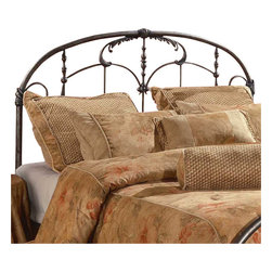 Hillsdale Furniture - Hillsdale Jacqueline Panel Headboard - King - The Jacqueline bed recalls an era of gilded excess. From the ornate spindles to the embellished scrollwork and castings, this design is uniquely detailed. The Jacqueline bed is delightful to behold.