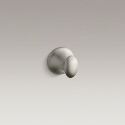 KOHLER - KOHLER Coralais(R) robe hook - Extend the sleek, versatile design of Coralais throughout your bathroom. This contemporary robe hook offers a convenient and stylish place for hanging clothes, towels, or robes.