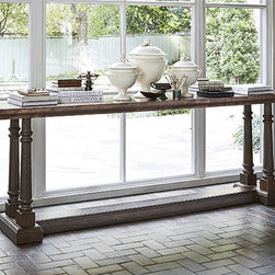 Ambella Home Collection - Ambella Home Collection - Lismore Console Table - 17542-850-001 - For any questions please call 800-970-5889.Ambella Home Collection - Lismore Console Table - 17542-850-001  Features:Lismore�Collection ConsoleFinished on all sidesWood top is clad in copper with antique finishSolid mindi hardwood legs and base have a rich warm brown finishTraditional StyleSome Assembly Required �Dimensions:�96W x 21D x 33H