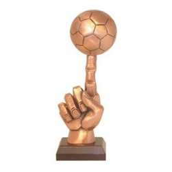 BA - 13 Inch Copper Color Single Finger Football Figurine Statue - This gorgeous 13 Inch Copper Color Single Finger Football Figurine Statue has the finest details and highest quality you will find anywhere! 13 Inch Copper Color Single Finger Football Figurine Statue is truly remarkable.