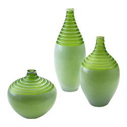 Cyan Design - Meadow Vase - Large - Large meadow vase - green