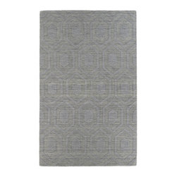 """Kaleen - Kaleen Imprints Modern Collection IPM01-83 2'6"""" x 8' Steel - Imprints Modern, where textiles meet fashion. Modern textile designs and todays hottest colors combine to meet the new evolution of this beautiful collection. Straight off the runway and into your home each rug is handmade in India of 100% Virgin Wool."""