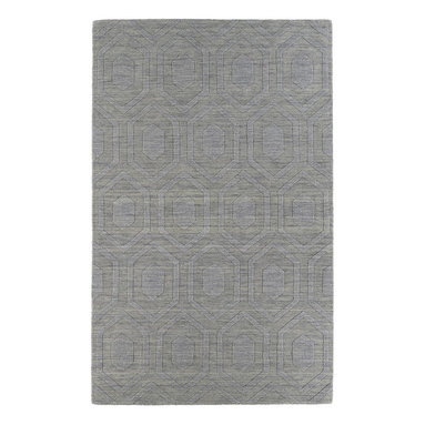 Kaleen - Kaleen Imprints Modern Collection IPM01-83 8' x 11' Steel - Imprints Modern, where textiles meet fashion. Modern textile designs and todays hottest colors combine to meet the new evolution of this beautiful collection. Straight off the runway and into your home each rug is handmade in India of 100% Virgin Wool.