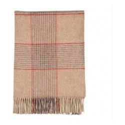 Johnstons| Fogwatt Check Throw| Cashmere - Gulfstream Throw by Johnston's for Muse