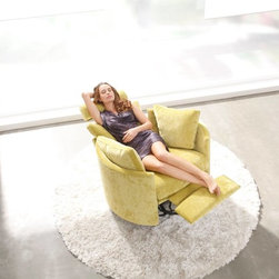 Moon Power Recliner by Famaliving - Moon causes attraction at first sight, but you love it once you try it.  A relax concept different to everything else.