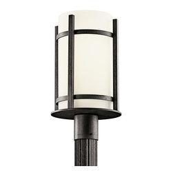 Kichler - Kichler 49123AVIFL Single Light Fluorescent Outdoor Post Light - Camden - Kichler 49123FL Camden Fluorescent Outdoor Post Lantern