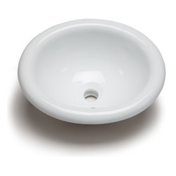 Hahn - Hahn Ceramic Medium Oval Bowl Bathroom Sink, White - This Hahn Ceramic bathroom sink features clean lines and is not only durable but stylish as well. This sink will provide an understated elegance to any bathroom.
