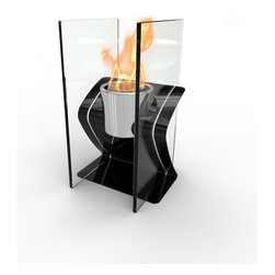 Decorpro - Zed Bio Ethanol Indoor/Outdoor Fireburner - ZED tabletop gel Fireburner / Firepot is great for those who have less table space in the home or on a patio. Easy to transport this elegant Fireburner is the perfect accessory to light up the night when you are entertaining. Use Organica Bio Safety Fuel or the Sunjel one time use fuel canister to create the wonderful smoke free flame. This product includes a snuffer. Fuel sold separately.  This Fireburner / Firepot is made of steel and is painted in a durable epoxy powdered paint. Suitable for any climate.