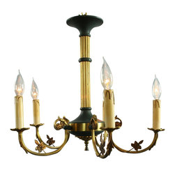 EuroLux Home - Consigned Vintage French Empire Chandelier Circa 1950 - Product Details