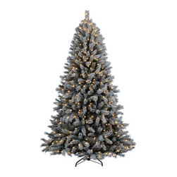 Alpine Estates Flocked Fir Christmas Tree - A PIECE OF THE ALPS FOR YOUR HOME