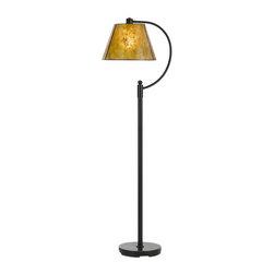 Cal Lighting - Cal Lighting BO-2575FL Cadiz 1 Light Pedestal Base Arc Floor Lamp - Features: