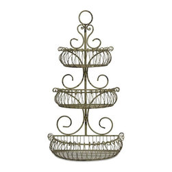 Tremblay Wall Planter - The Tremblay wall planter features three wire shelves, built to hold your favorite florals, whether potted or silk to add a natural warmth to your home.