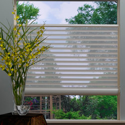Top-Down/Bottom-Up Silhouette with EasyRise - Silhouette by Hunter Douglas with Top-Down/Bottom-Up feature and EasyRise operating system. Top-Down/Bottom-Up gives you control of letting the sun in while having privacy where you want it!