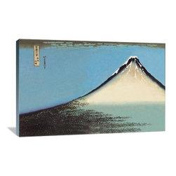 "Artsy Canvas - Mount Fuji 36"" X 24"" Gallery Wrapped Canvas Wall Art - Mount Fuji - Katsushika Hokusai (1760 beautifully represented on 36"" x 24"" high-quality, gallery wrapped canvas wall art"