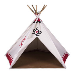 Pacific Play Tents - Southwest Cotton Canvas Teepee - Dimensions: 45 in X 45 in X 56 in high
