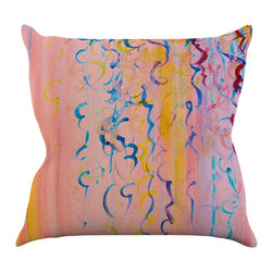 """Kess InHouse - Ebi Emporium """"Cotton Candy Whispers"""" Throw Pillow (18"""" x 18"""") - Rest among the art you love. Transform your hang out room into a hip gallery, that's also comfortable. With this pillow you can create an environment that reflects your unique style. It's amazing what a throw pillow can do to complete a room. (Kess InHouse is not responsible for pillow fighting that may occur as the result of creative stimulation)."""