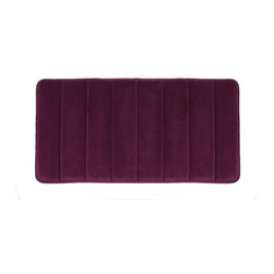 "Living Healthy Products - Microfiber Absorbing Bathroom Mat 20x30 Horizontal Line Pattern, Purple - Step out of the Shower and into Plush Luxury with this quilted memory foam bathroom mat. This mat has a stable non slip latex backing and is covered with a silky soft microfiber. The mat absorbs moisture as you stand in comfort and protects you feet from the cold tile floors. Available in 2 Sizes : 17"" x 24"" or 20"" x 30"""