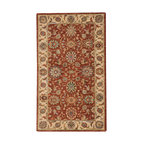 "Nourison - Nourison Living Treasures LI05 2'6"" x 4'3"" Rust Area Rug 66785 - Brilliantly bordered and rendered in glorious tones of taupe, gold, rose, blue, black, olive and russet, a traditional floral print is stunning in its timeless sophistication. Crafted from incredibly lush wool and specially dyed for high-intensity brilliance, this majestic rug boasts a thrilling tone and transfixing texture."
