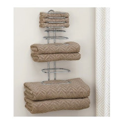 Taymor - Four Guest Towel Holder, Chrome - This Guest Towel Holder will work great in any bathroom! Mount the Guest Towel Holder onto the wall and store numerous towels in your guest bath. Great way to provide towels to your guests when you have a full house! Can hold assorted towels from hand to bath size.