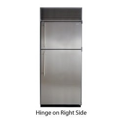 """Marvel - M36TFWSR 36"""" Top Freezer Refrigerator  with Full Extension Glide-Out Clear Crisp - With an automatic ice maker formed metal door bins clear crispers for easy viewing and durable easy-to-clean freezer and refrigerator shelves our top freezer provides you with the best storage for your individual lifestyle All freezers feature our Fr..."""