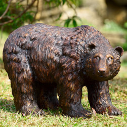 """Rust Finish Garden Bear Statue - This line of extraordinary treasures features distinctive decorative wares that are sure to find a perfect place in your heart and home. Dimensions: 25""""w x 12.5""""d x 16""""h"""