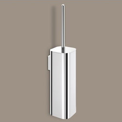 Gedy - Wall Mounted Polished Chrome Toilet Brush Holder - Add this luxurious, contemporary toilet bowl brush to your already modern & contemporary bathroom. Made in extremely high quality brass and available in chrome. This wall hung toilet bowl brush set is designed and built in Italy by Gedy and is from the Gedy Outline collection. Toilet brush for a high-end bathroom. Luxurious toilet bowl brush. Extremely high quality brass, coated in chrome. Made by Gedy in Italy.