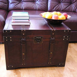 Gold Rush Large Wooden Steamer Treasure Trunk -