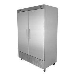 Fagor Commercial - Fagor Commercial QVR-2 Reach-in Double-door Refrigerator - Freezer features stylish European design with American durability Commercial appliance is made with 22 gauge stainless steel Freezer's door has rounded corners