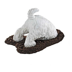 "EttansPalace - Classic Dog Home Garden Terrier Statue Sculpture - This dog is not quite on an archeological dig, but our whimsical Highland Terrier dog statue just may be ""in over his head"" as he scouts for buried treasure - or that lost bone! This humorous Terrier statue is complete with wagging tail, leaving the rest of our dog sculpture to your imagination. This is cast in quality designer resin with hand-painted detail."
