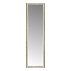 """Posters 2 Prints, LLC - 18"""" x 63"""" Libretto Antique Silver Custom Framed Mirror - 18"""" x 63"""" Custom Framed Mirror made by Posters 2 Prints. Standard glass with unrivaled selection of crafted mirror frames.  Protected with category II safety backing to keep glass fragments together should the mirror be accidentally broken.  Safe arrival guaranteed.  Made in the United States of America"""