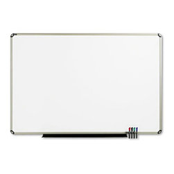 Quartet - Quartet 72 x 48 in. Porcelain Euro Frame Dry Erase Board Multicolor - QRTP567T - Shop for Dry Erase Boards from Hayneedle.com! Make use of the Quartet 72 x 48 in. Porcelain Euro Frame Dry Erase Board to post messages. Its steel-backed board creates a magnetic surface and doubles its use as a bulletin board. Made of porcelain material this erase board will not scratch or stain and will last for many years. It features an aluminum frame that adds to its durability. This versatile board is made in the USA and is a must-have for offices.About United StationersDedicated to making life in the office more organized efficient and easier United Stationers offers a wide variety of storage and organizational solutions for any business setting. With premium products specifically designed with the modern office in mind we're certain you will find the solution you are looking for.From rolling file carts to stationary wall files every product in the United Stations line is designed with one simple goal: to improve office efficiency. In turn you will find increased productivity happier more organized employees and an office setting that simply runs better with the ultimate goal of increasing bottom line profits.