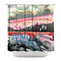 DiaNoche Designs - Shower Curtain Artistic - Dessert Scape - DiaNoche Designs works with artists from around the world to bring unique, artistic products to decorate all aspects of your home.  Our designer Shower Curtains will be the talk of every guest to visit your bathroom!  Our Shower Curtains have Sewn reinforced holes for curtain rings, Shower Curtain Rings Not Included.  Dye Sublimation printing adheres the ink to the material for long life and durability. Machine Wash upon arrival for maximum softness. Made in USA.  Shower Curtain Rings Not Included.