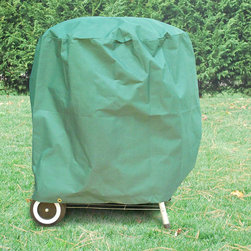 Esterna - Premium Green BBQ Grill Cover - Protect your grill with this waterproof BBQ grill cover. This product is constructed with heavy duty polyester making this cover weather-resistant and stain-resistant. The grill cover has a dark green color and provides UV protection.