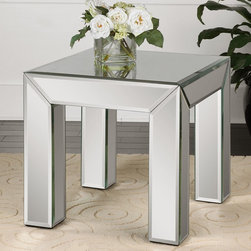 Mirrored End Table -