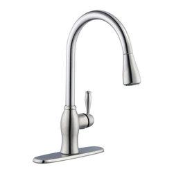 Pegasus - Pegasus 1050 Series Single-Handle Pull-Down Sprayer Faucets in Stainless Steel - 1050 Series Single-Handle Pull-Down Sprayer Kitchen Faucet in Stainless Steel