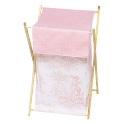 Pink Toile Clothes Hamper