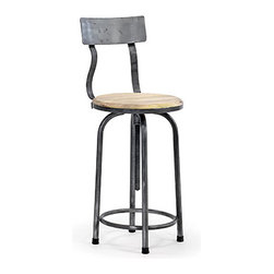 Industrial Vintage Stool - I love industrial stools like this which are really well built and add instant character to a kitchen.  I have used similar stools around a vintage stainless steel kitchen island, which really looks great, indestructible too!