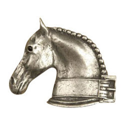 Anne at Home Hardware - Dressage Horse  Knob, Antique Bronze - Made in the USA - Anne at Home customized cabinet hardware enables even the most discriminating homeowner to achieve the look of their dreams.  Because Anne at Home cabinet hardware is designed to meet your preferences, it may take up to 3-4 weeks to arrive at your door. But don't let that stop you - having customized Anne at Home cabinet knobs and pulls are well worth the wait!   - Available in many finishes.