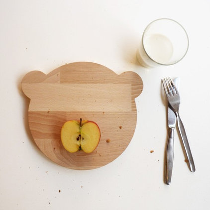 eclectic knives and chopping boards by Etsy