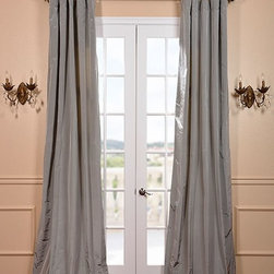 Nickel Silk Taffeta Curtain - Our 100% silk taffeta drapes & curtains represent extravagant luxury at unbeatable prices. Our team of designers have worked tirelessly to find the best colors to make our selection truly vibrant, timeless & unique.