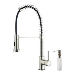 Vigo Industries - Undermount Stainless Sink, Faucet and Dispenser - If sophistication and style fits your taste, then show it with a Vigo kitchen sink, faucet and soap dispenser. Sink is manufactured with 16 gauge premium 304 series stainless steel construction. Fully undercoated and padded with unique multi layer sound eliminating technology, which also prevents condensation. Commercial grade premium scratch resistant satin finish.