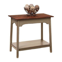 Amish Pine Wood Farmhouse Large End Table -