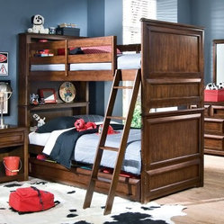 Elite Expressions Bookcase Twin over Twin Bunk Bed