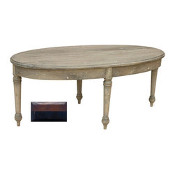 Tradewinds - French Country Oval Coffee Table, Walnut Top with Black - Inspired by timeless French sophistication, this oval-shape coffee table features a classic design that makes it an excellent coastal living furniture item. This well-designed coastal style furniture table features a great depth and fusion of color and finish. It is finely-crafted to enliven your room settings in just the right way. Built for long-lasting use, it presents a wonderful combination of design and style that evokes an old world charm.