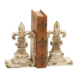 "Benzara - Library Polystone Bookend Pair - Library Polystone Bookend Pair 11""H, 9""W. Some assembly may be required."