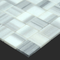 Stone & Co - Equator Marmara Marble Polished 2x2 Square Mosaic Tile - Finish: Polished