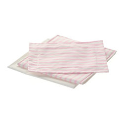 Laurent Doll - Laurent Doll Pink Stripe Linen Set for Doll Daybed - LDDB-PNK-02 - Shop for Dolls Clothes and Accessories from Hayneedle.com! Prepare your little girl's doll daybed for a good night's rest with the Laurent Doll Pink Stripe Linen Set for Doll Daybed. Beautifully crafted from 100% cotton this set features a simple yet elegant pink stripe print on the top and a solid white back. Two 100% cotton pillow cases two comforters and two mattress covers are included.About Laurent DollLaurent Doll was started in 2009 by Kathy Cahill and her son Scott and founded on the principal of creating high quality design and manufacturing to fit a wide range of 18-inch dolls. Crafted from quality hardwoods Laurent Doll offers an exceptional collection of doll furniture linens and accessories.