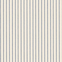 """Ballard Designs - Vintage Ticking Stripe Navy Fabric by the Yard - Content: 100% Cotton. Repeat: Non-railroaded fabric. Care: Machine wash cold, tumble dry low.. Width: 56"""" wide. Classic navy ticking woven in thick 100% cotton.  .  . . . Because fabrics are available in whole-yard increments only, please round your yardage up to the next whole number if your project calls for fractions of a yard. To order fabric for Ballard Customer's-Own-Material (COM) items, please refer to the order instructions provided for each product. Ballard offers free fabric swatches: $5.95 Shipping and Processing, ten swatch maximum. Sorry, cut fabric is non-returnable."""
