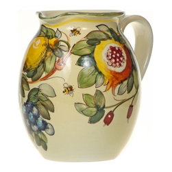 Ceramic - Tuscan Fruit Wine Pitcher - Tuscan Fruit Wine 7e Ceramic Pitcher